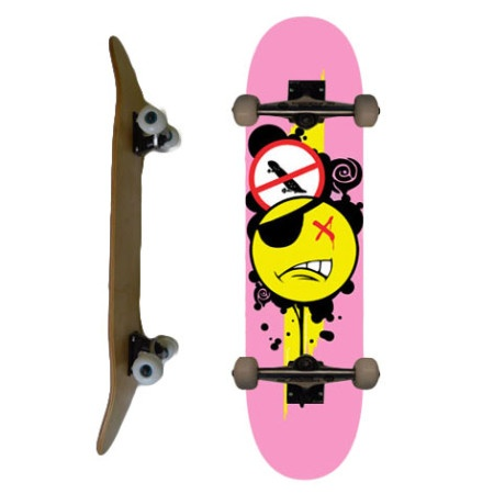 Easy People Skateboards SB-1 Complete Skateboard Decks-Pink-Pirate