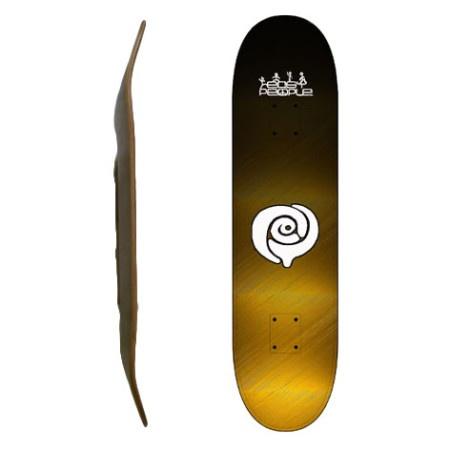 Easy People Skateboards SB-2 Blank Skateboard Deck-Faded-Gold