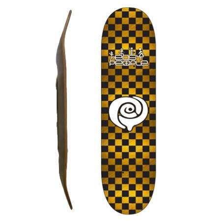 Easy People Skateboards SB-2 Blank Skateboard Deck-Gold-Checkers