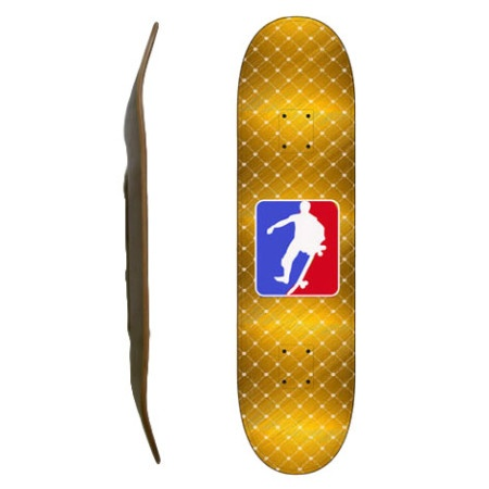 Easy People Skateboards SB-2 Blank Skateboard Deck-Gold-NSA