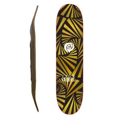 Easy People Skateboards SB-2 Blank Skateboard Deck-Gold-Watch-Out