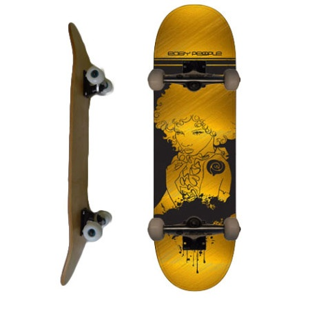 Easy People Skateboards SB-2 Complete Skateboard Decks-Gold-Afro-Girl