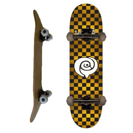 Easy People Skateboards SB-2 Complete Skateboard Decks-Gold-Checker