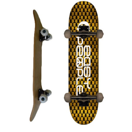 Easy People Skateboards SB-2 Complete Skateboard Decks-Gold-Chess