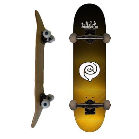 Easy People Skateboards SB-2 Complete Skateboard Decks-Gold-Faded