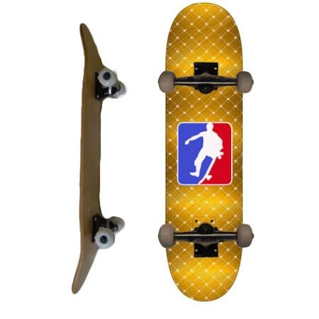 Easy People Skateboards SB-2 Complete Skateboard Decks-Gold-NSA