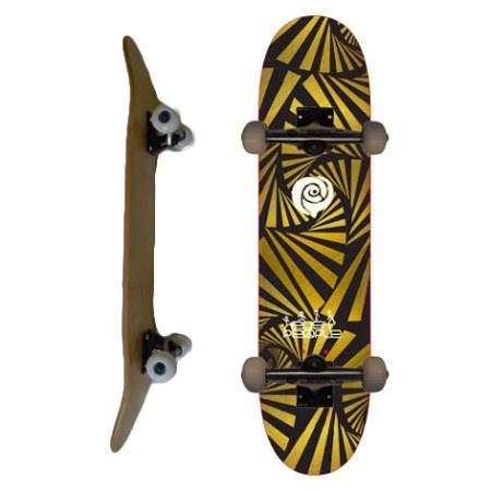 Easy People Skateboards SB-2 Complete Skateboard Decks-Gold-Watch-Out