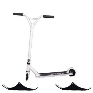 Easy People Stunt Scooter Combo With Wheels & Snow Ski Kit White