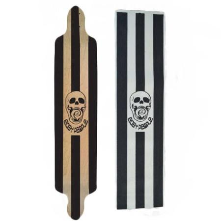 Easy People Longboards EP Custom Grip Tape For Longboard Decks Skull & Flames