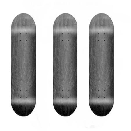 Easy People Skateboards SB-1 Semi-Pro Stained Skateboard Deck Black x 3