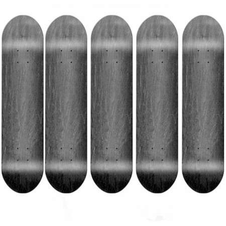 Easy People Skateboards SB-1 Semi-Pro Stained Skateboard Deck Black x5