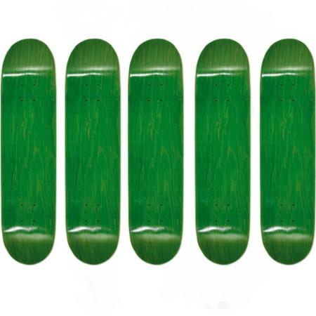 Easy People Skateboards SB-1 Semi-Pro Stained Skateboard Deck Green x 5