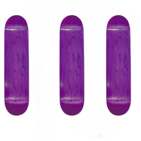Easy People Skateboards SB-1 Semi-Pro Stained Skateboard Deck Purple x 3