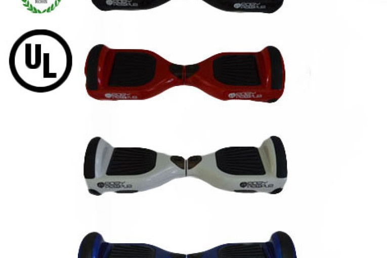 Easy People Hoverboard Two Wheel Balancing Scooter Top View Collage 2 UL