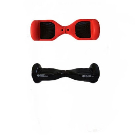 Easy People Hoverboard Black Two Wheel Self Balancing Motorized Scooters With Red Silicone Case