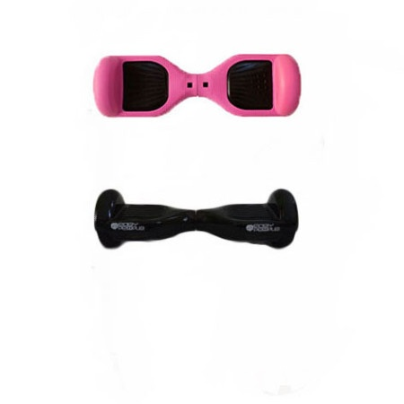 Easy People Hoverboard Black Two Wheel Self Balancing Motorized Scooters With Pink Silicone Case