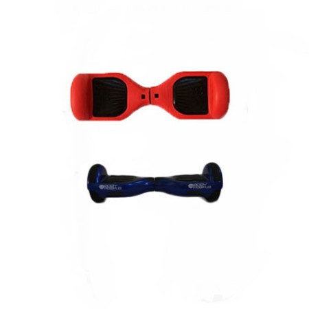 Easy People Hoverboard Blue Two Wheel Self Balancing Motorized Scooters With Red Silicone Case