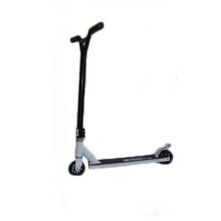 Easy People Stunt Scooter Cross Colour Black Handlebar Stunt Scooter With White Deck