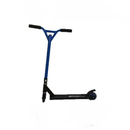 Easy People Stunt Scooter Cross Colors Blue Handlebar with Black Deck