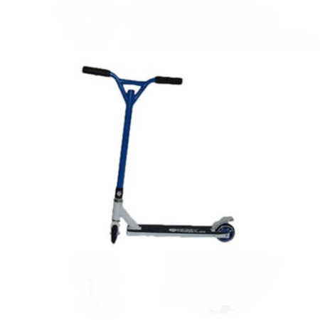 Easy People Stunt Scooter Cross Colors Blue Handlebar with White Deck