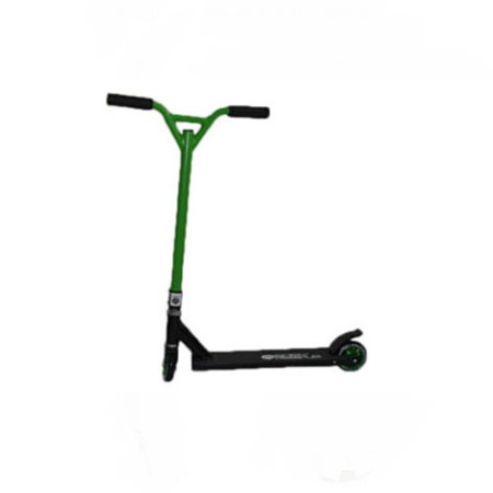 Easy People Stunt Scooter Cross Colors Green Handlebar with Black Deck