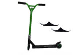 Easy People Stunt Scooter Cross Colour Green Handlebar Stunt Scooter With Black Deck & Ski Attachment