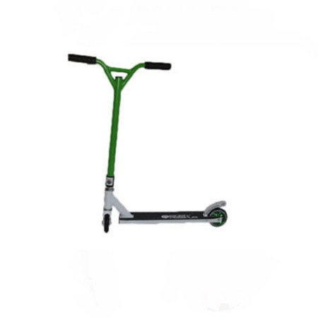Easy People Stunt Scooter Cross Colors Green Handlebar with White Deck