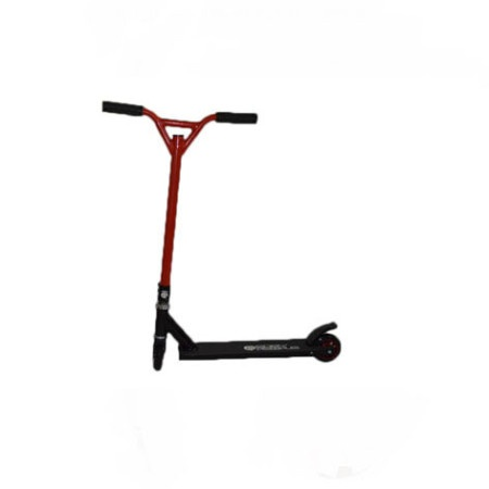 Easy People Stunt Scooter Cross Colors Red Handlebar with Black Deck