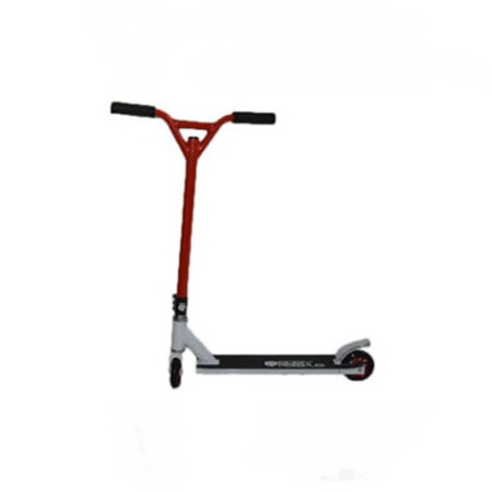 Easy People Stunt Scooter Cross Colors Red Handlebar with White Deck
