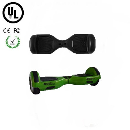 Easy People Hoverboard Green Two Wheel Self Balancing Motorized Scooter with Black Silicone Case