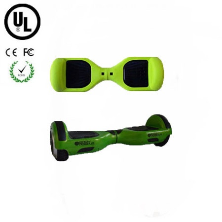 Easy People Hoverboard Green Two Wheel Self Balancing Motorized Scooter with Green Silicone Case