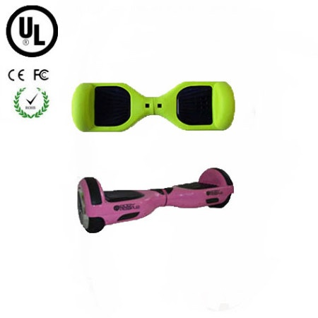 Easy People Hoverboard Pink Two Wheel Self Balancing Motorized Scooter with Green Silicone Case