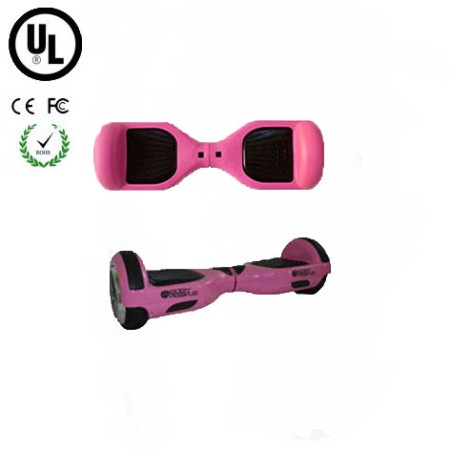 Easy People Hoverboard Pink Two Wheel Self Balancing Motorized Scooter with Pink Silicone Case