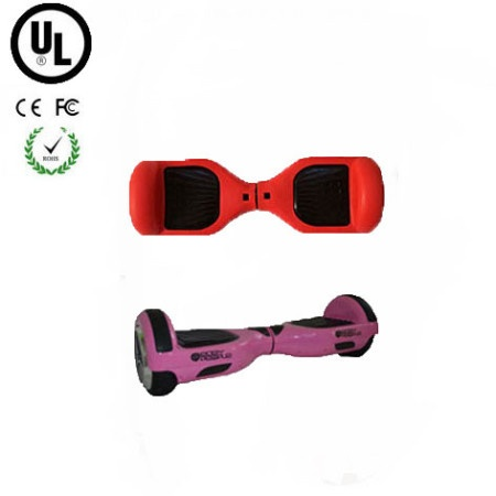 Easy People Hoverboard Pink Two Wheel Self Balancing Motorized Scooter with Red Silicone Case