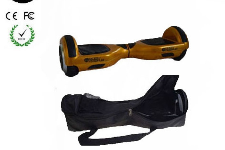 Easy People Hoverboard Gold Two Wheel Self Balancing Motorized Scooter with Bag