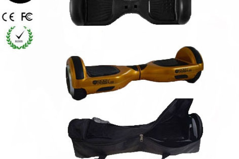 Easy People Hoverboard Gold Two Wheel Self Balancing Motorized Scooter with Black Silicone Case+ Bag