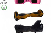 Easy People Hoverboards Pink Hover Skin ( Silicone case) + Gold Hoverboard + Bag