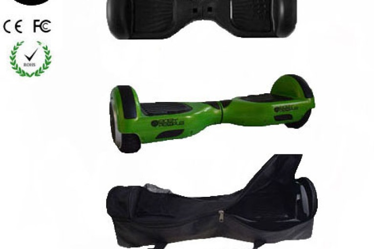 Easy People Hoverboard Green Two Wheel Self Balancing Motorized Scooter with Black Silicone Case + Bag