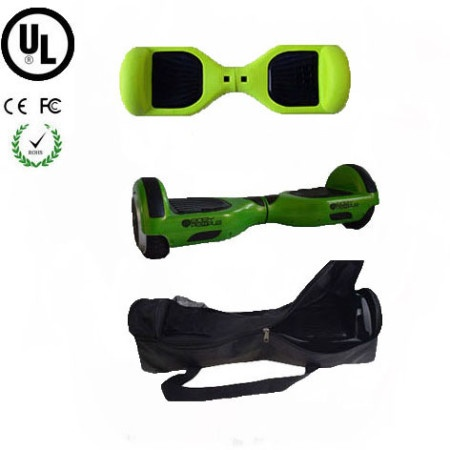 Easy People Hoverboard Green Two Wheel Self Balancing Motorized Scooter with Green Silicone Case + Bag