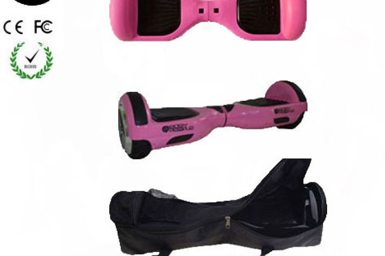 Easy People Hoverboard Pink Two Wheel Self Balancing Motorized Scooter with Pink Silicone Case + Bag